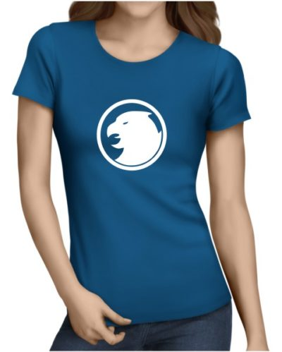 hawkman on ladies royal blue shirt