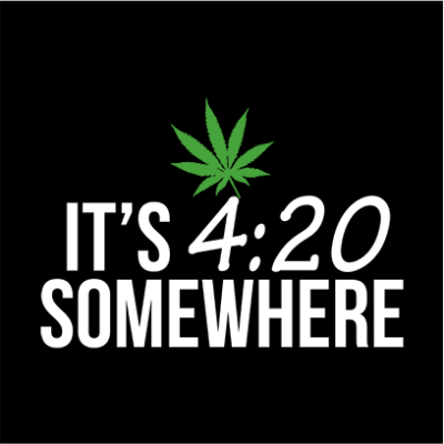its 420 somewhere black square