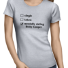 mentally dating betty ladies tshirt grey