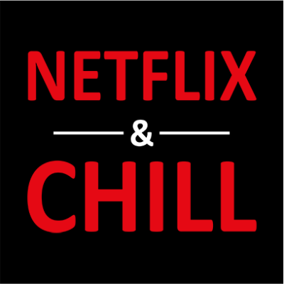 netflix and chill black square