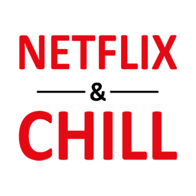 netflix and chill white square