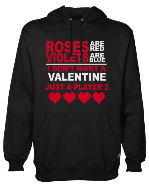 roses are red Black Hoodie jb