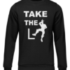 take the L black sweater