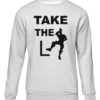 take the L grey sweater