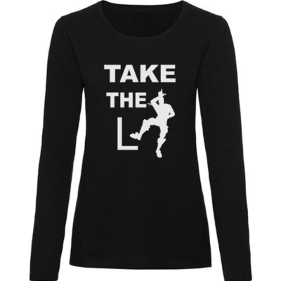 take the L ladies black long sleeve