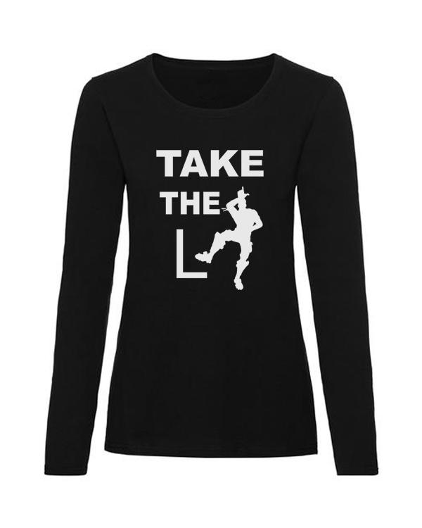 take the L ladies black long sleeve