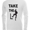 take the L long sleeve white