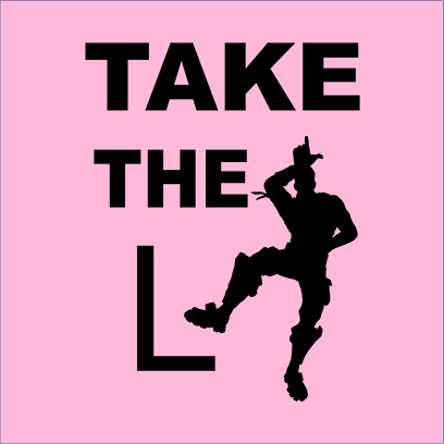 take the L pink square