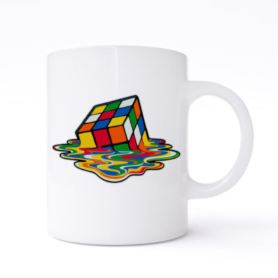 melting rubiks cube mugs