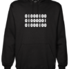 Binary Dad Black Hoodie