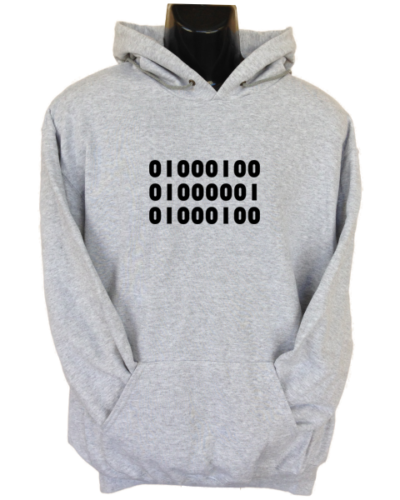 Binary Dad Grey Hoodie