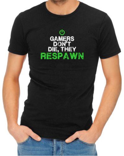 Gamers Dont Die Mens Black