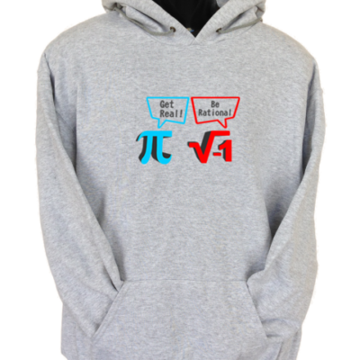 Get Real Be Rational Grey Hoodie