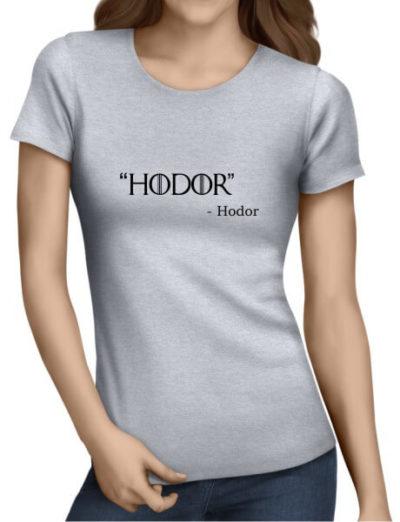 Hodor-Ladies-Grey-Shirt