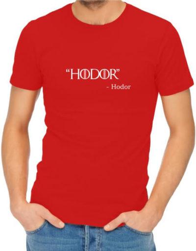Hodor-Mens-Red-Shirt