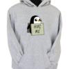 Hug Me Penguin Grey Hoodie
