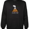 I Lava You Black Hoodie