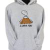 I Lava You Grey Hoodie
