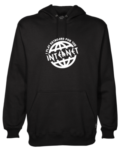 I Play For the Internet Black Hoodie