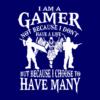 I am a gamer navy square