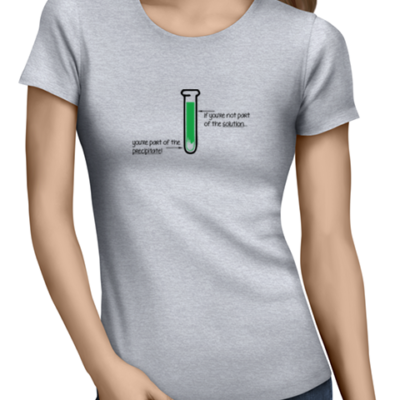 If you are not part of the solution ladies tshirt grey