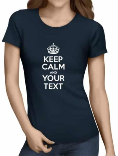 Keep-Calm-Ladies-Navy-Shirt