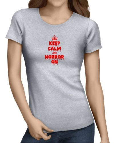 Keep-Calm-and-Horror-On-ladies-short-sleeve