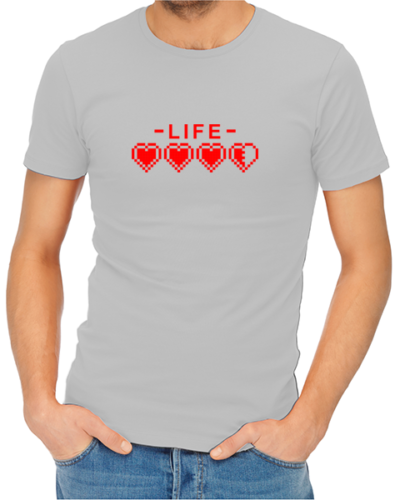 Life mens tshirt grey