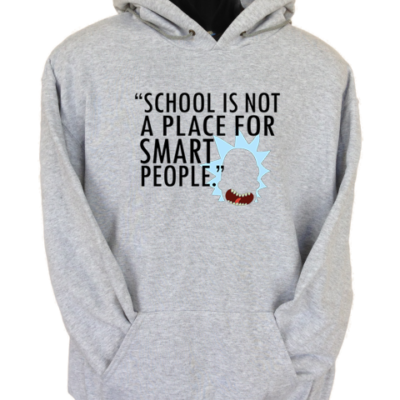 Not for Smart People Grey Hoodie