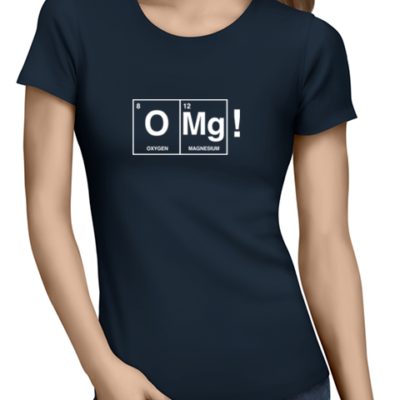 OMG ladies tshirt navy