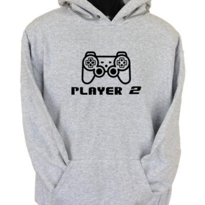 Player 2 Grey Hoodie