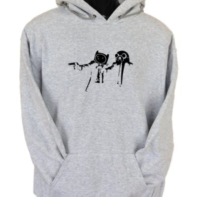 Pulp Fiction Adventure Time Grey Hoodie