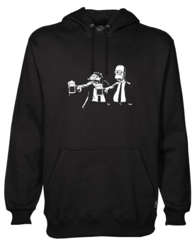 Pulp Fiction Simpsons Black Hoodie