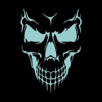 Scary-Skull-Face-Black