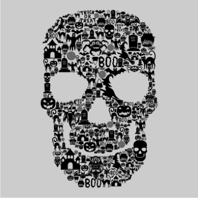Skull-Face-Collage-Grey
