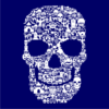 Skull-Face-Collage-Navy