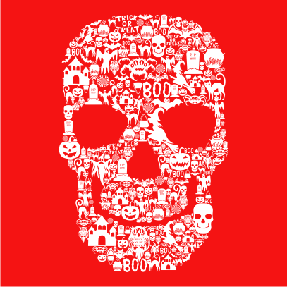 Skull-Face-Collage-Red