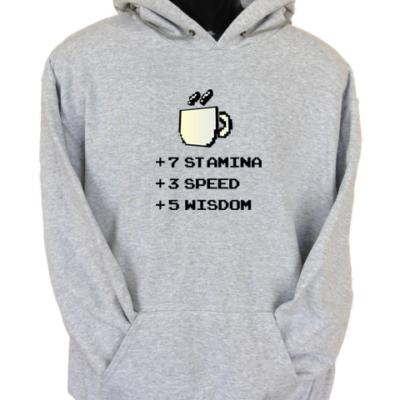 Stamina Speed Wisdom Grey Hoodie