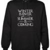 Summer is Coming Black Hoodie