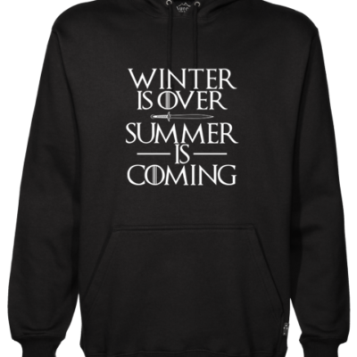 Summer is Coming Black Hoodie