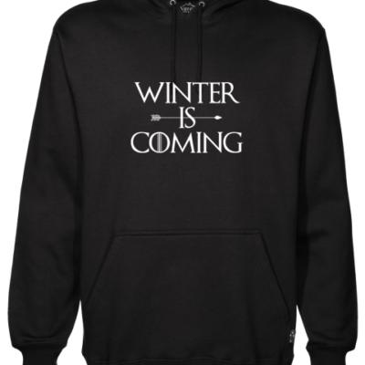 Winter is Coming Black Hoodie