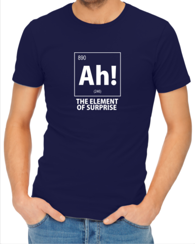 ah the element of suprise mens navy