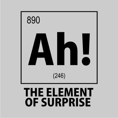 ah the element of surprise nerdy t-shirt grey square