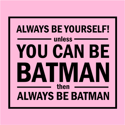 always be yourself pink square