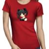 anime girl ladies tshirt red