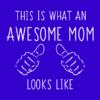 awesome mom blue square