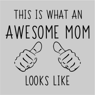 awesome mom grey square