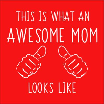 awesome mom red square
