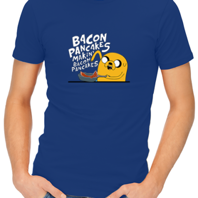 bacon pancakes mens tshirt blue