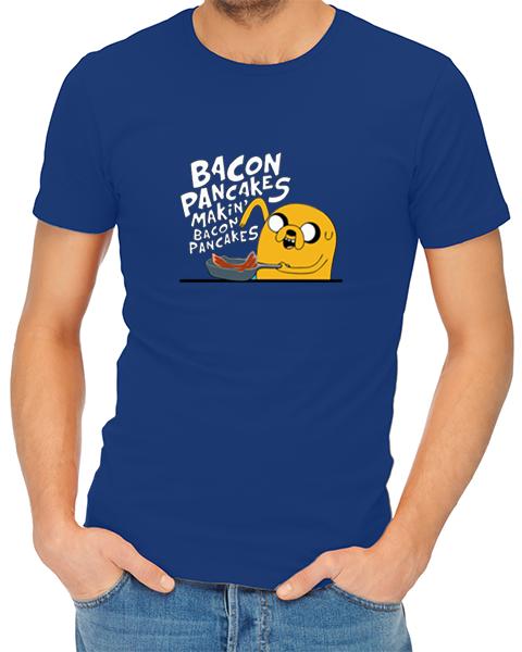 bacon pancakes mens tshirt blue
